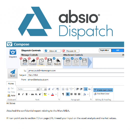 Absio Dispatch Email Encryption and Security