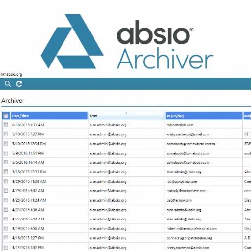 Absio Archiver Encrypted Email Compliance Archive catalogue image