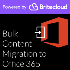 Britecloud Bulk Content Migration to Office 365 catalogue image