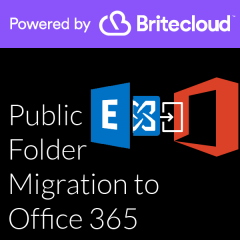 Britecloud Public Folder Migration to Office 365 catalogue image