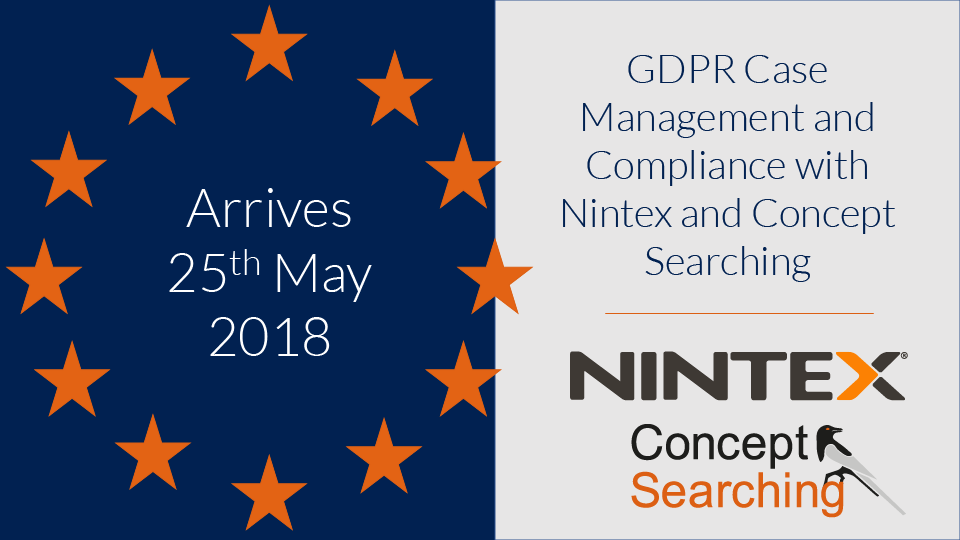Get GDPR Compliant Fast - Case Management and Compliance with Nintex and Concept Searching - Webinar